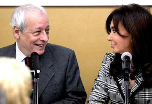 Horacio Verbitsky y Cristina Fernández de Kirchner