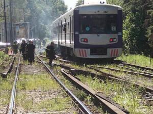 incendio-tren-línea-Mitre