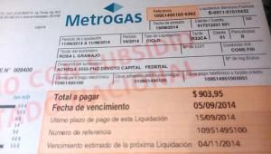 factura de gas