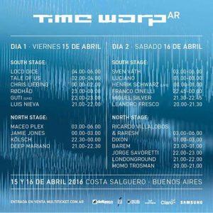 Time-Warp-cronograma